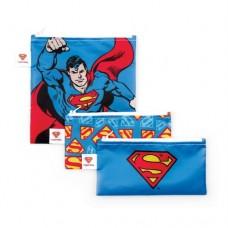 Bumkins - Sacs à collation réutilisable - Paquet de 3 - Superman