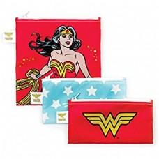 Bumkins - Sacs à collation réutilisable - Paquet de 3 - Wonder Woman