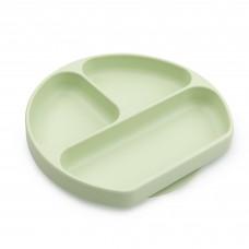 Bumkins - Assiette Dish Grip à succion - Vert Sauge