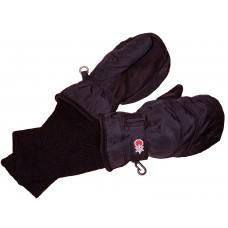 SnowStoppers - Mitaines imperméables avec long poignet - Noir