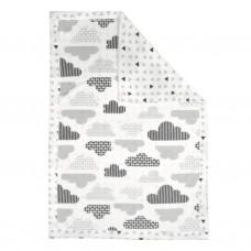 Perlimpinpin - Couverture réversible en peluche - Triangles