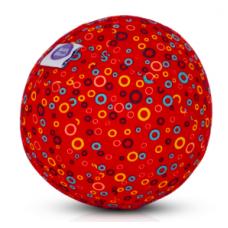 BubaBloon - Ballon gonflable avec housse en tissu - Red Circles
