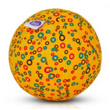 BubaBloon - Ballon gonflable avec housse en tissu - Yellow Circles
