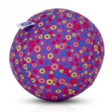 BubaBloon - Ballon gonflable avec housse en tissu - Purple Circles