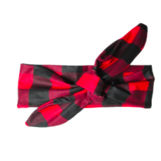 Baby Wisp - Top Knot Headband - Rouge et Noir Canadiens