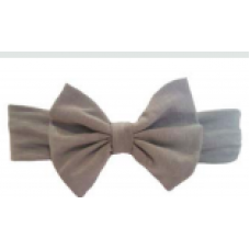 Baby Wisp - Big Bow Headband - Bandeau à grosse boucle - Gris