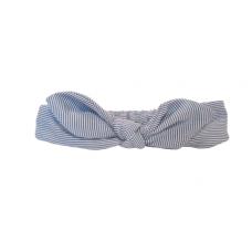 Baby Wisp - Bunny Ears Headband - Pinstripe Blue