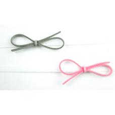 Baby Wisp - Headband 2pk Ultra Skinny  - Boucles Faux Suède Gris et Rose pâle