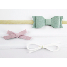 Baby Wisp - Headband 3 Pack - Ensemble de boucles Blanc , Lilas,  Vert