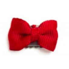 Baby wisp - Mini Latch Grosgrain Bow - Boucles pour les cheveux fins - Rouge