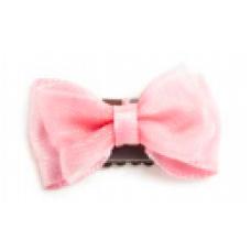 Baby wisp - Mini Latch Organza Bow - Boucles pour les cheveux fins - Rose