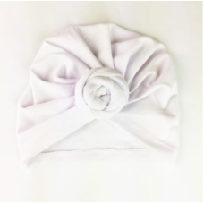 Baby Wisp - Chapeau turban à Noeud - Blanc