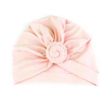 Baby Wisp - Chapeau turban à Noeud - Rose pâle