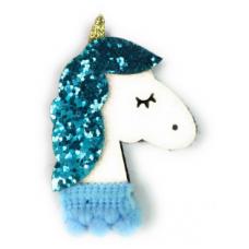 Baby Wisp - Pince à cheveux - Licorne Brillante - Bleu