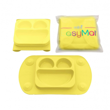 EasyMat - Assiette à succion portable - Jaune