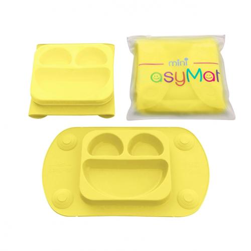 EasyMat - Assiette à succion portable - Jaune