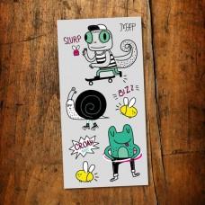 Pico Tatoo - Tatouage pour enfants - Le cool caméléon et sa gang - Signé MAP