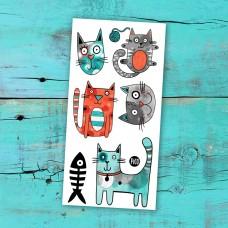 Pico Tatoo - Tatouage pour enfants - Bibi le chat gris