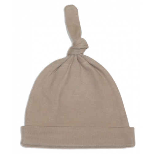Silkberry Baby - Bonnet Noeud en Coton Bio - Brun