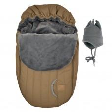 Perlimpinpin - Couvre-siège d'auto et chapeau de polar - Hiver - Camel
