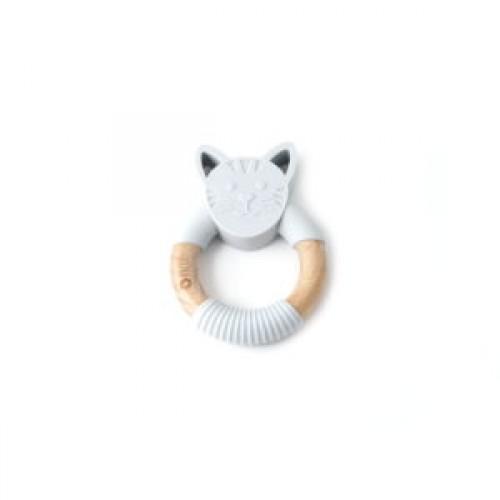 Bulle Bijouterie - Hochet animal – Chat gris