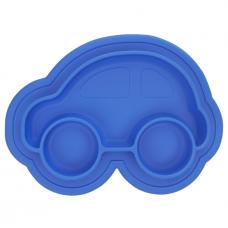 Kushies - Siliplate - Assiette en silicone - Auto Azure