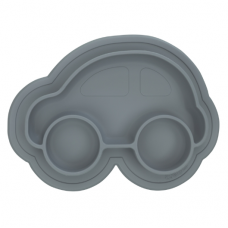 Kushies - Siliplate - Assiette en silicone - Gris caillou
