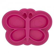 Kushies - Siliplate - Assiette en silicone - Rose bonbon