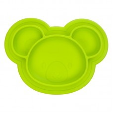 Kushies - Siliplate - Assiette en silicone - Ourson Lime