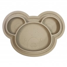 Kushies - Siliplate - Assiette en silicone - Ourson Amande