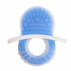 Kushies - Silisoothe - Sucette de dentition en silicone - Bleu