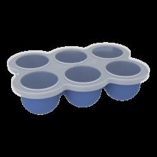 Kushies - Silifreeze - Plateau à 6 dosettes - Bleu minéral