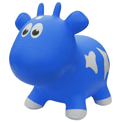 Farm hoppers - Jouet gonflable à rebond - Vache Bleue
