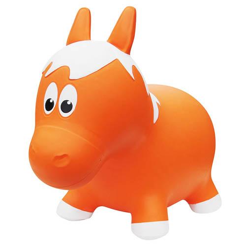 Farm hoppers - Jouet gonflable à rebond - Cheval Orange