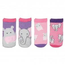 FlapJackKids - Bas assorties 1-3 ans - Hippo / Éléphant