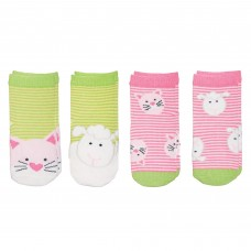 FlapJackKids - Bas assorties 1-3 ans - Chaton / Mouton