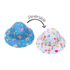 FlapJackKids - Chapeau de soleil à motifs pour enfants - Papillon / Floral