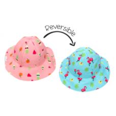 FlapJackKids - Chapeau de soleil à motifs pour enfants - Flamingo / Fruit