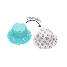 FlapJackKids - Chapeau de soleil à motifs pour enfants - Renard / Hérisson