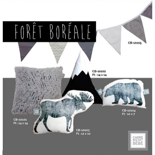 La Libellule - Carrément bébé - Forêt Boréale - Coussins disponibles