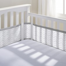 Breathable Baby - Tour de lit en filet - Chevron gris