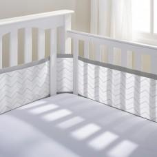 Breathable Baby - Tour de lit en filet - Chevron gris