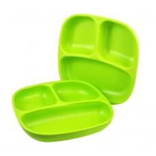 Re-Play - Assiette divisée de 7 po en plastique recyclé - Vert