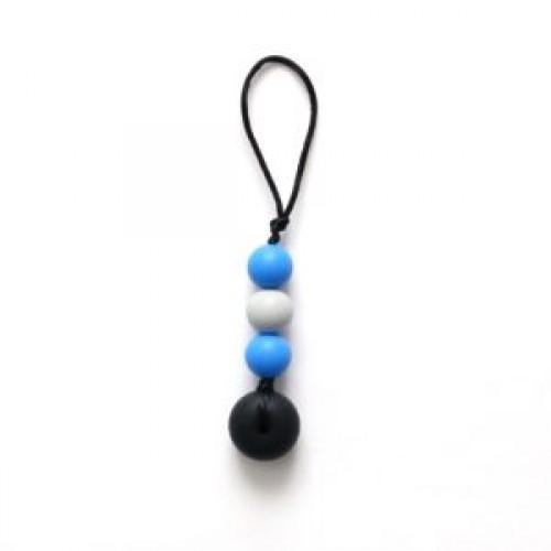 Bulle Bijouterie - Zip-Bulle Bleu royal, gris pâle et noir