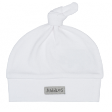 Juddlies - Essential Collection - Bonnet Nouveau-né en coton organique - Blanc/Gris