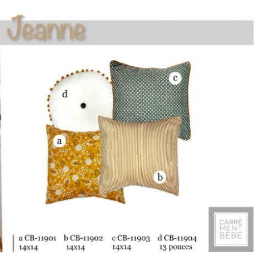 La Libellule - Carrément bébé - Jeanne - Coussins disponibles