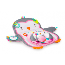 Bright Starts - Tapis d'éveil - Tummy Time Prop et Play - Penguin Rose