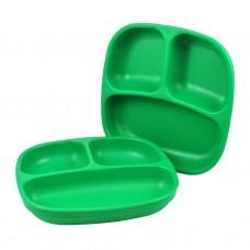 Re-Play - Assiette divisée de 7 po en plastique recyclé - Vert Kelly