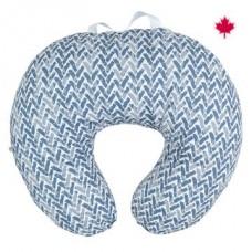 Perlimpinpin - Coussin d'allaitement en coton - Chevron bleu
