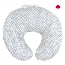 Perlimpinpin - Coussin d'allaitement en coton - Chevron gris